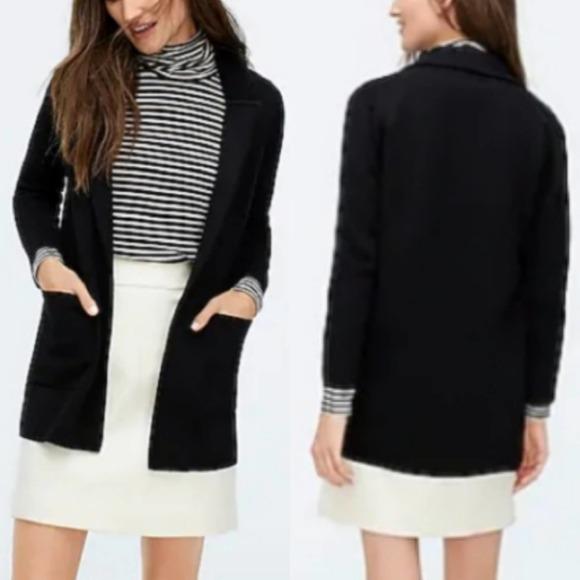 J. CREW Sophie Open Front Sweater Blazer Jacket XS